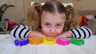 SLIME COLORAT IN ACADELE Video Pentru Copii