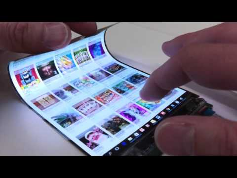 Adding Touch To A Flexible Display Using Neonode zForce AIR™ Technology