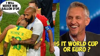 Player Reactions to BRAZIL VS BELGIUM 2-1 FIFA World Cup 2018