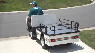 peeling out miami dolphins restored medical ez go golf cart xi875