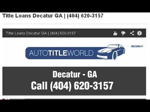Title Loans Decatur GA