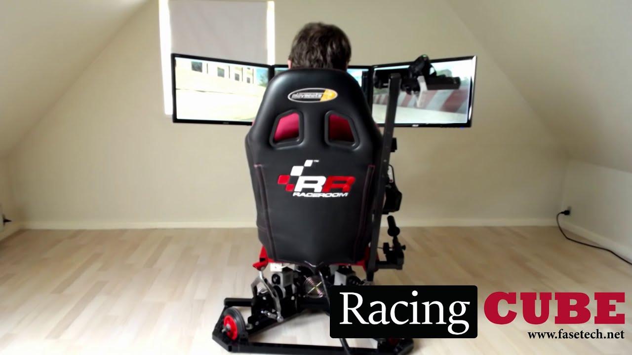 3dof Racing Simulator - Test Drive (Racingcube)  Fasetech 01:21 HD