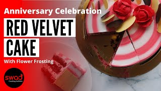 Red Velvet Cake | 22nd Anniversary Celebration | रेड वेल्वेट केक | Office Anniversary | Eggless Cake
