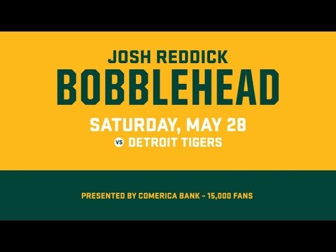 Get your Josh Reddick bobblehead on Saturday, May 28
