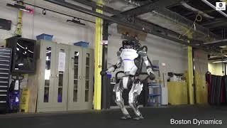 Humanoid robot shows off impressive gymnastics routine | ABC News