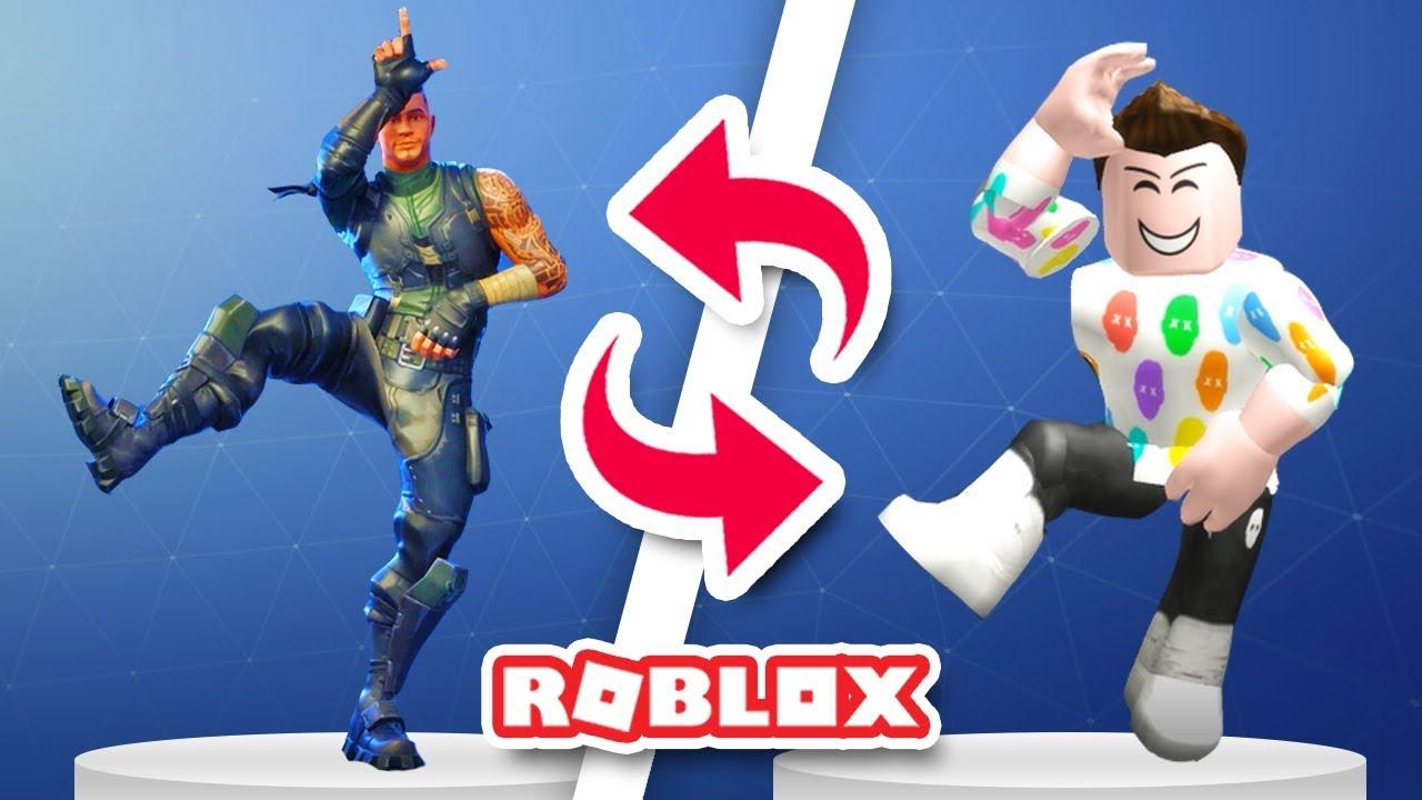 Fortnite Dances In Roblox Youtube