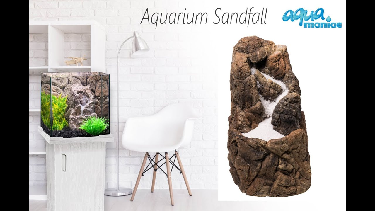 Aquarium sandfall decoration ready made for your fish tank for Aquarium waterfall decoration