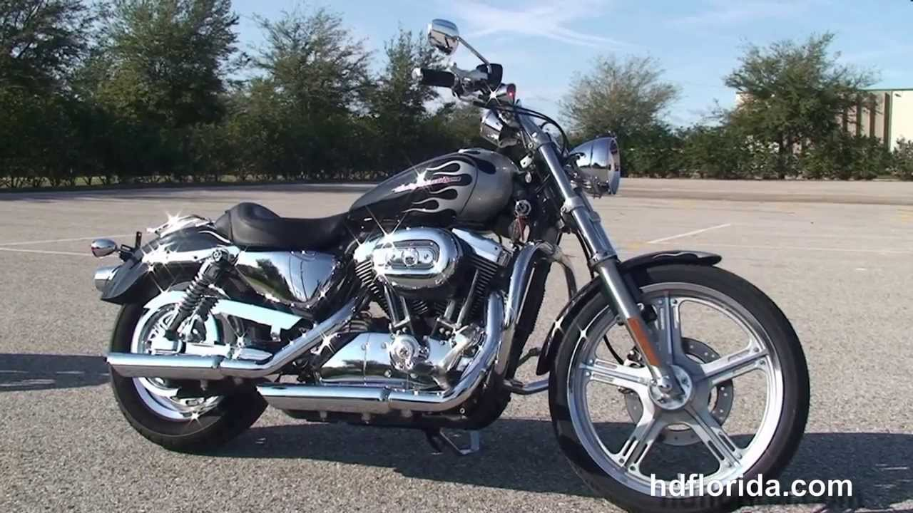 Used 2004 Harley Davidson Sportster 1200 Custom Motorcycle for Sale