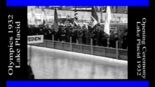 Olympics 1932 Lake Placid Winter Games Opening Ceremony narred by SlMcKenzie Selzer-McKenzie
