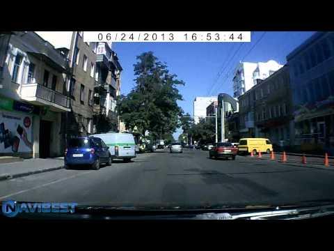 видеорегистратор Gazer H515 пример работы