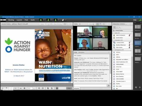 SuSanA Monthly Webinar 10 Multi-Sectoral Actions for WASH – March 21 2017