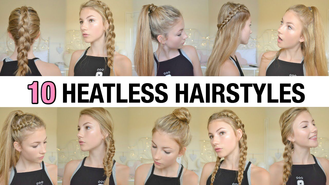 10 back to school heatless hairstyles - youtube