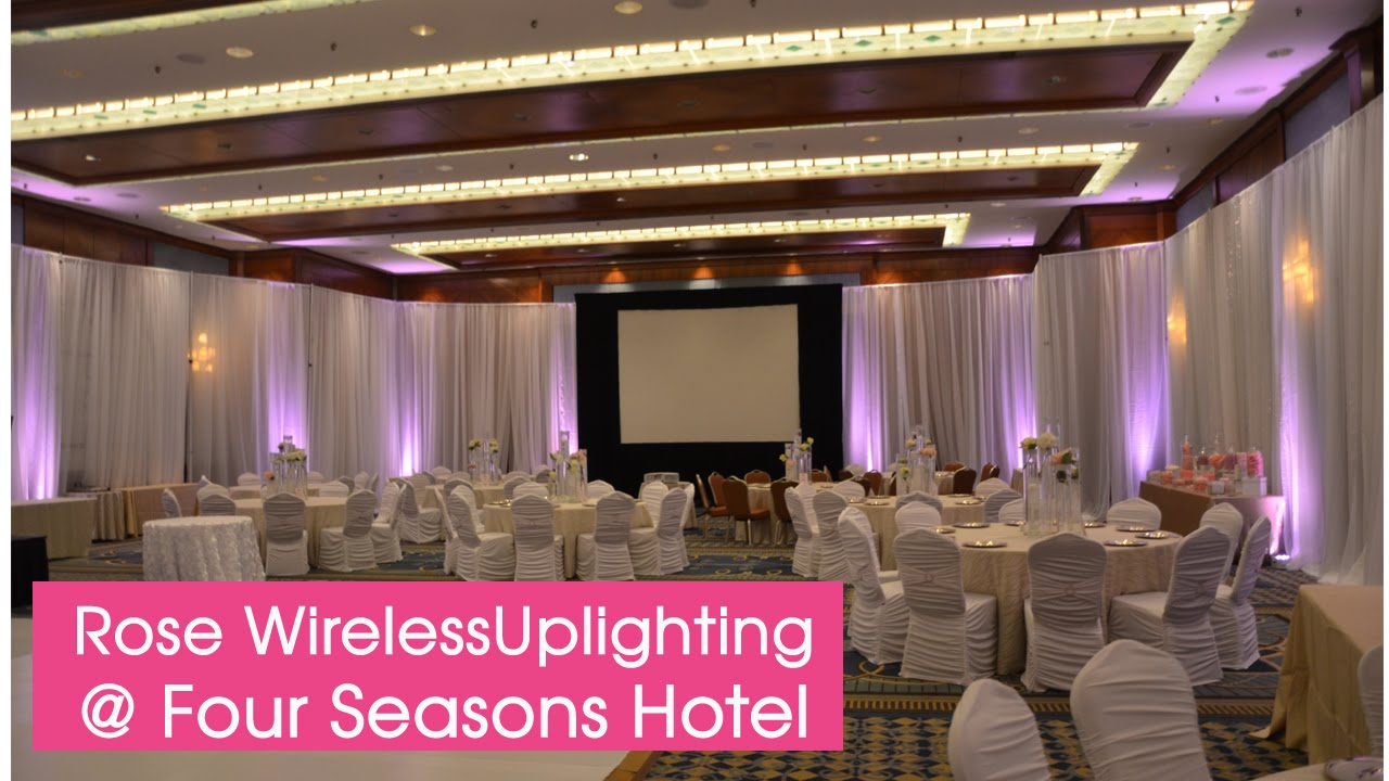 Four seasons vancouver wedding uplighting wedding decorations idea four seasons vancouver wedding uplighting wedding decorations idea for ballroom reception youtube junglespirit