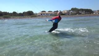 Martin kite student www edmkpollensa com kitesurfing school kite lessons in Mallorca in April