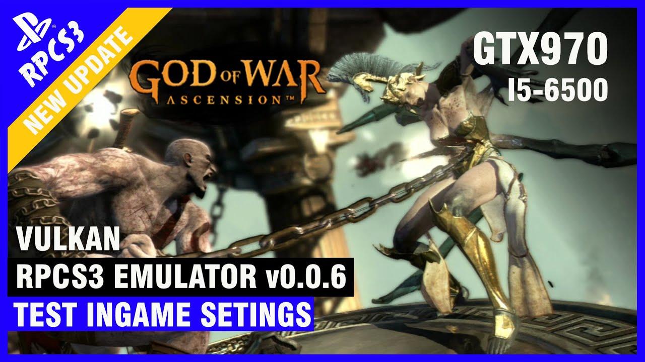 God of War Ascension RPCS3 0 0 6 [Emulator PS3] Vulkan InGame Test GTX 970