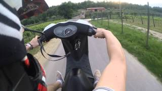 peugeot vivacity 50cc wheelie gopro hero3 black edition