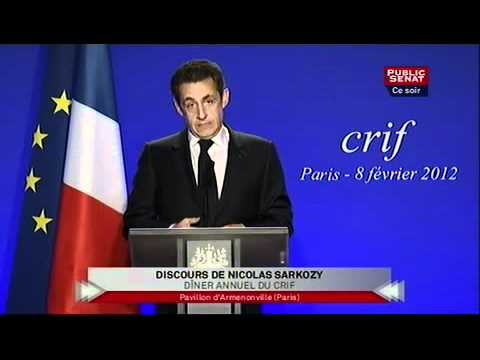 Dîner Du CRIF 2012 - Discours De Nicolas Sarkozy