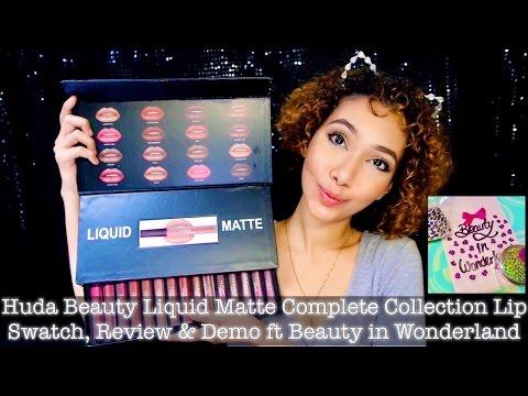 Huda Liquid Matte Complete Collection Lip Swatch, Review & Demo ft Beauty in Wonderland   IkinMan