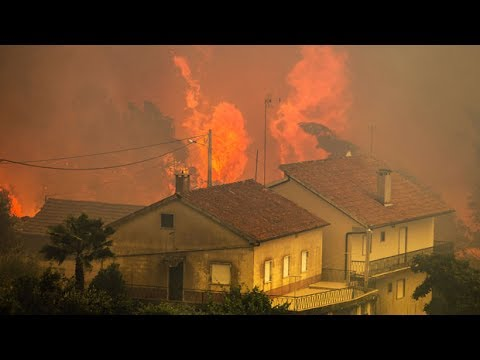 'It looks apocalyptic': Resident flees forest fire in Portugal