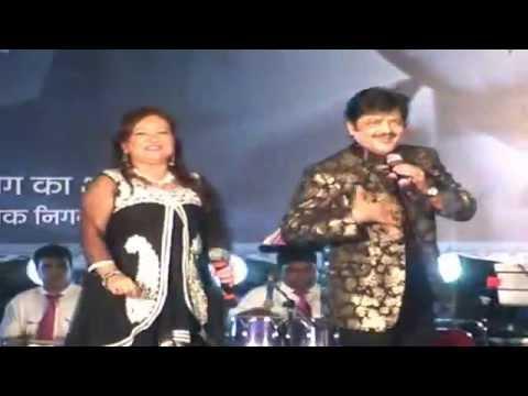 Live performance - Udit Narayan with Wife | Udit Narayan Songs | Tez News