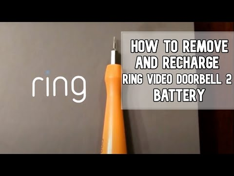 How to replace and charge Ring Video Doorbell 2 battery DIY video