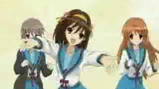 Repeat youtube video Haruhi Dance - Hare Hare Yukai ( full )