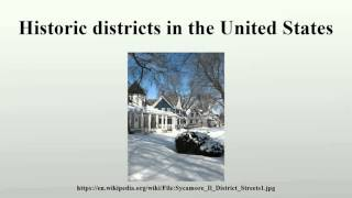 Historic districts in the United States
