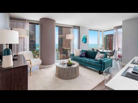 A luxury 2-bedroom, 2-bath model at Streeterville