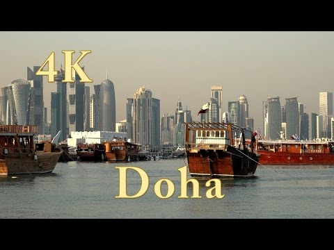 Doha Katar. One day in Doha Qatar. Doha city tour. 4k ultra hd. (1/3)