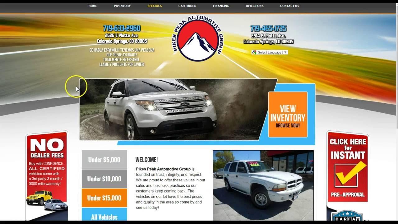 Used Cars Colorado Springs Pikes Peak Auto Group