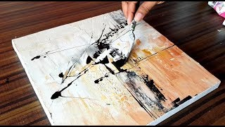 Easy Abstract Painting Demonstration in Acrylics and Palette knife / Project 365 days / Day #060