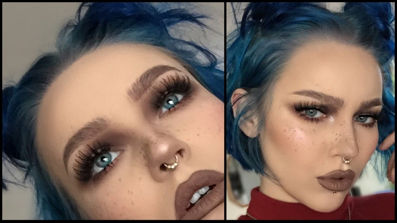 Easy Cool Toned Grunge Makeup Tutorial Youtube - Grunge-makeup-ideas