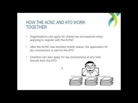 Webinar - The ACNC and the ATO - Charity tax concessions and endorsement -  July 18 2017