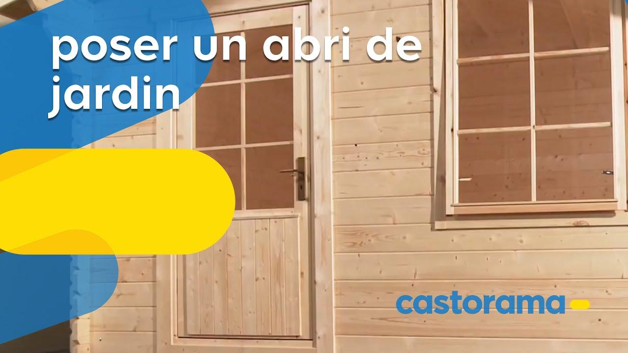 Poser un abri de jardin Castorama  YouTube