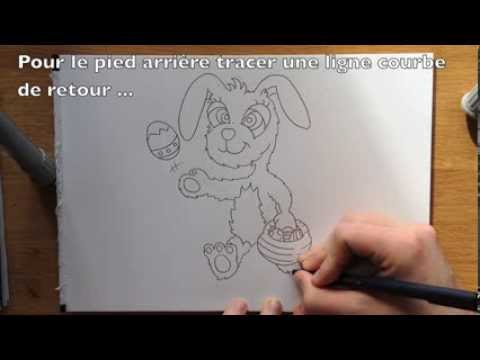 comment dessiner le lapin de p ques facile tape par tape tutoriel youtube. Black Bedroom Furniture Sets. Home Design Ideas