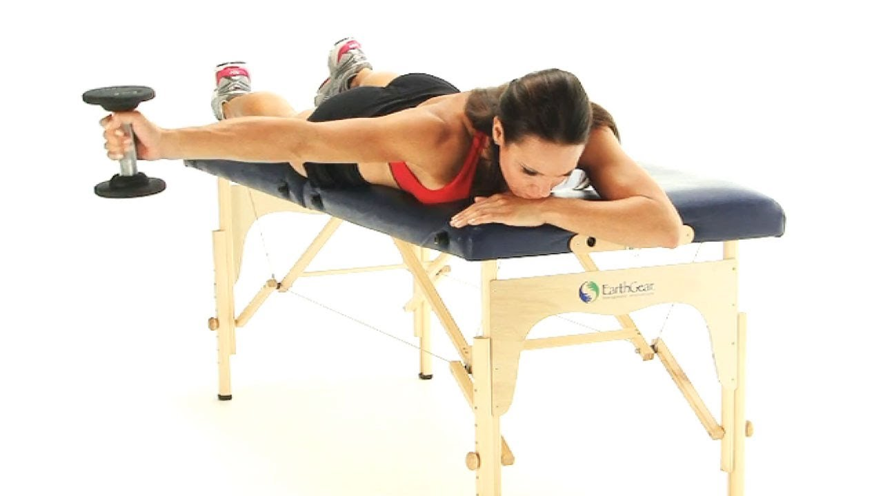 Shoulder exercise - Horizontal abduction in prone for ...
