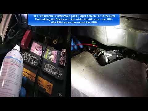 Solve Toyota P0430 and P2103 Engine Light On code - Use Seafoam Spray on 2005 Toyota Sienna