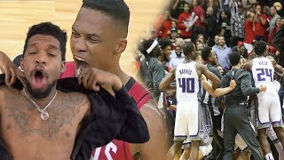 WESTBROOK CLUTCHES UP BABY LETS... wow Houston Rockets vs Sacramento Kings Full Game Highlights