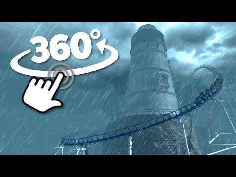 360° Roller Coaster Ride | Point Solitude | VR Simulation Video