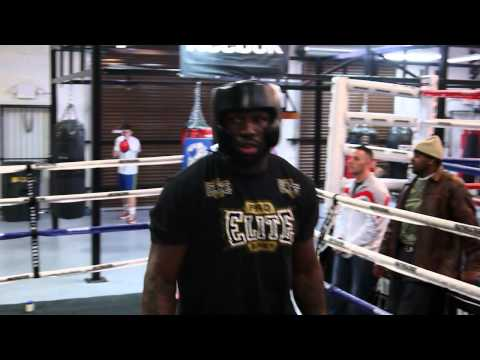 King Mo TKO's his sparring partner at the Mayweather Boxing Club