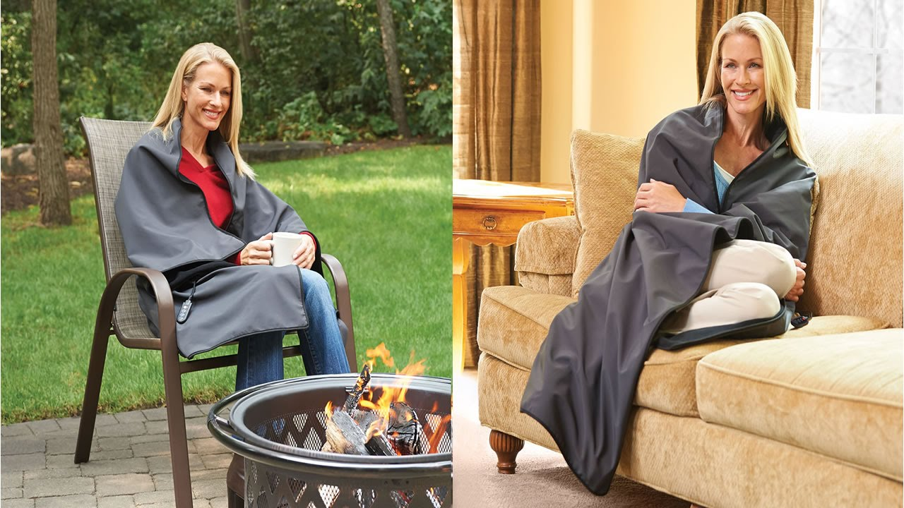 Cordless Battery Operated Heated Blanket Youtube