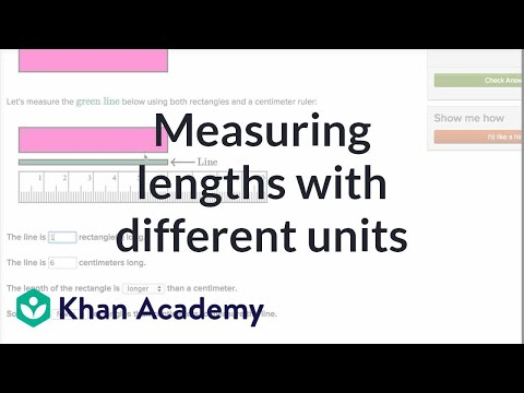 Measuring Lengths With Different Units | Measurement And Data | Early Math | Khan Academy