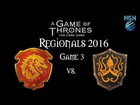 A Game of Thrones LCG 2.0 | Maritime Regionals Game 3 - Lannister/Dragon vs Greyjoy Fealty