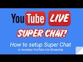 How to enable Super Chat in YouTube - YouTube