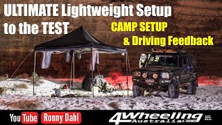ULTIMATE Lightweight 79 series Landcruiser, CAMP SETUP & Drive