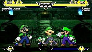 Luigi's Party 4v4 Patch MUGEN 1.0 Battle!!!
