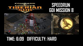 SPEEDRUN: C&C Tiberian Sun GDI Mission 8 (Hard). NO GLITCH.