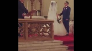 Венчание в церкви. Традиционная клятва молодоженов на алтаре. Венчание с участием Ряховского С.В.