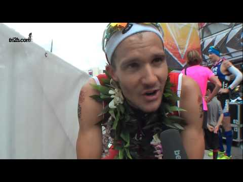 Ironman Hawaii 2014: Jan Frodeno (3. Platz) im Zielinterview
