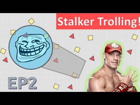 STALKER TROLLING! -Diep.io INVISIBLE Funniest Stalker trolling EP2! Bumped into everyone!